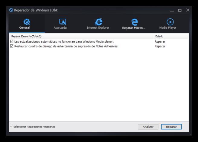 Advanced SystemCare 10 - Reparar Windows