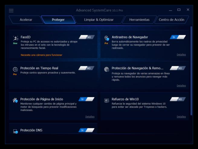 Advanced SystemCare 10 - Seguridad