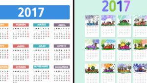 Diseña tu propio calendario personalizado para el año 2017