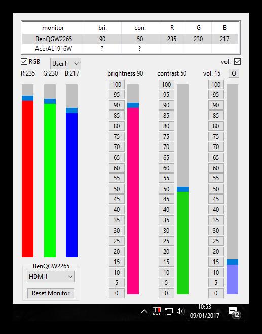 ClickMonitorDDC y RGB