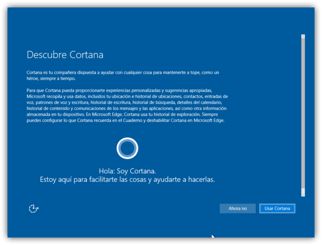 Configurar Cortana Windows 10