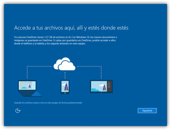 Configurar OneDrive Windows 10