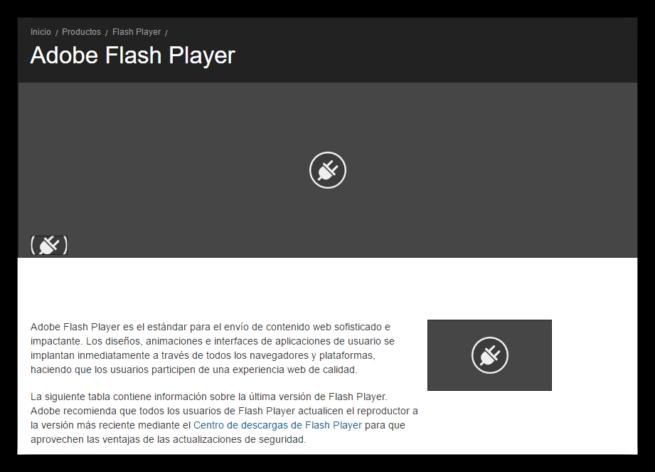 Contenido Adobe Flash Player bloqueado por defecto