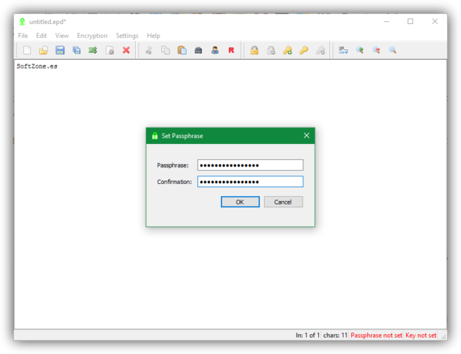 EncryptPad - Passphrase