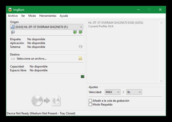 ImgBurn - Convertir CD a ISO