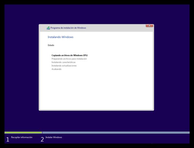 Instalar Windows 10 paso a paso - Comienza la instalacion