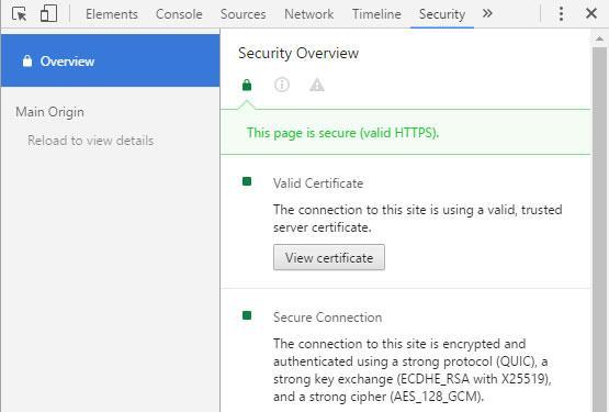 Certificados en Chrome