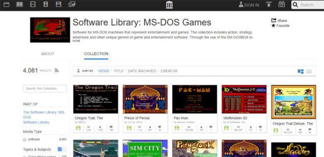 Juegos clásicos Internet Archive