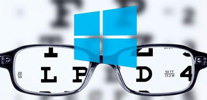 letras borrosas de windows