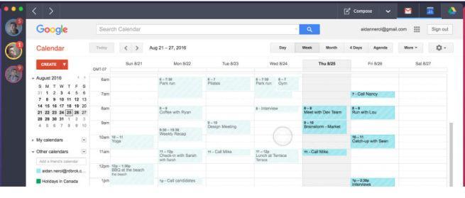 Shift para Gmail