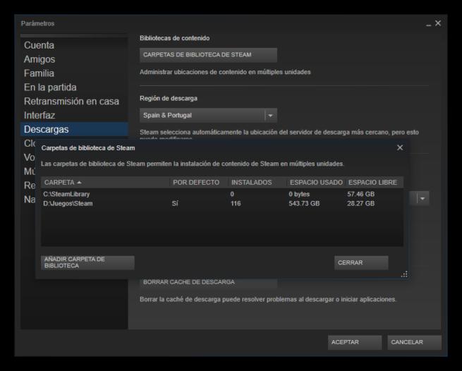 mover un juego instalado de Steam