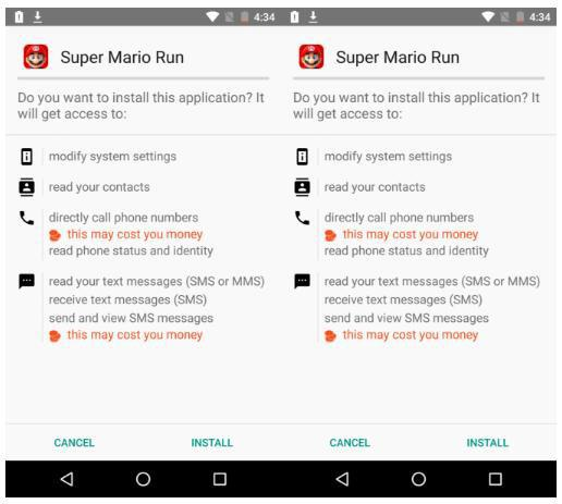 Malware Super Mario Run Android