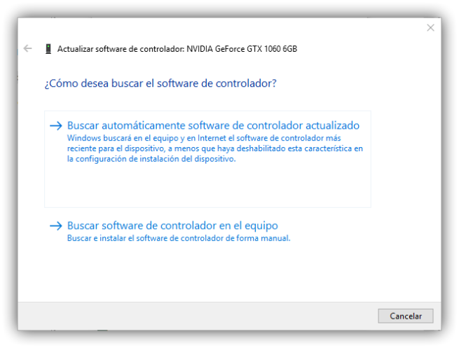 Actualizar controladores de Windows 1