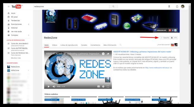 Canal de YouTube de RedesZone
