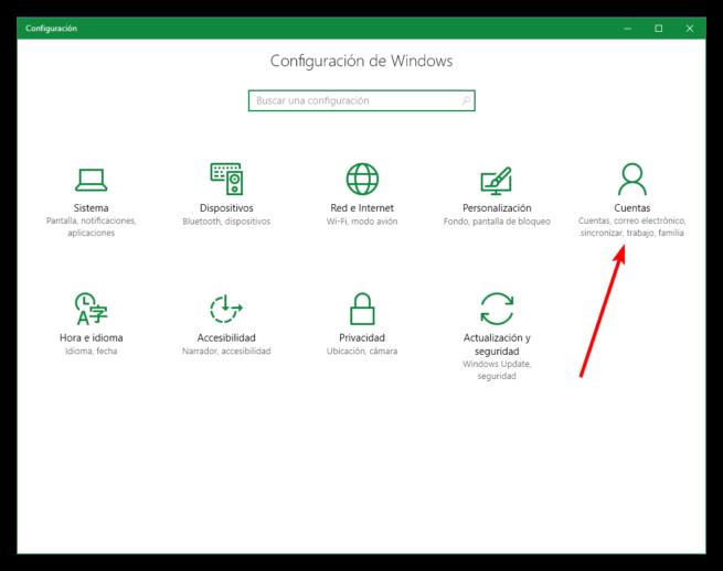 Configurar cuenta Windows 10