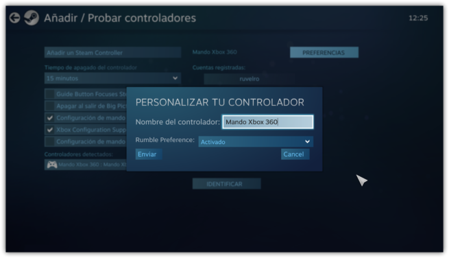 Mando Xbox 360 en Steam