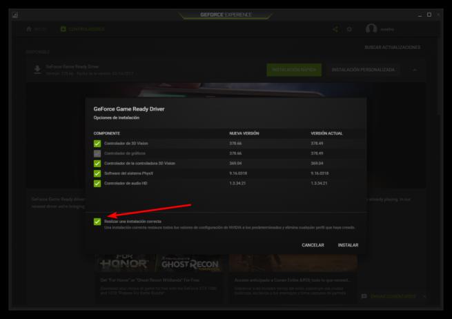 Realizar una instalacion limpia de los drivers de Nvidia