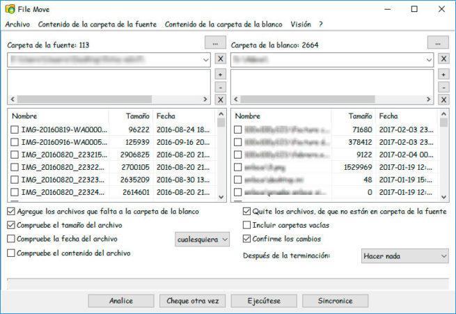 sincronizar archivos entre dos carpetas