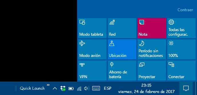 botón Nota de Windows 10