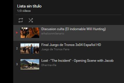 Youtube listado