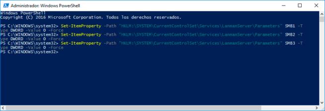 desactivar el protocolo de red SMB