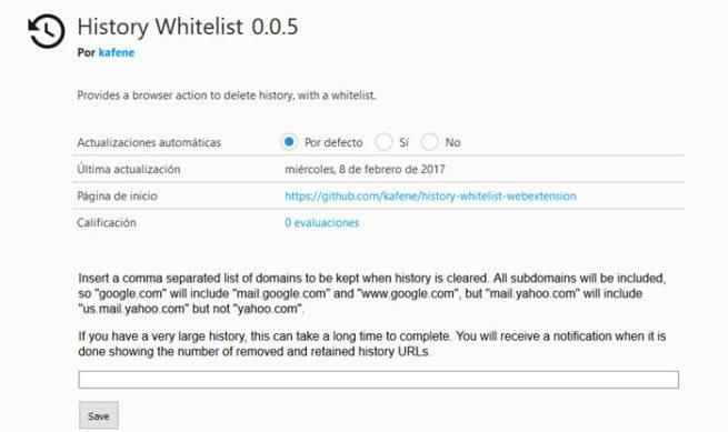 Whitelist Firefox