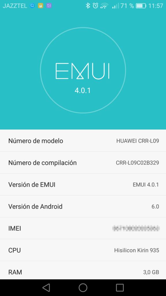Actualizaciones EMUI Huawei