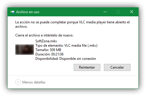 Archivo bloqueado en uso Windows