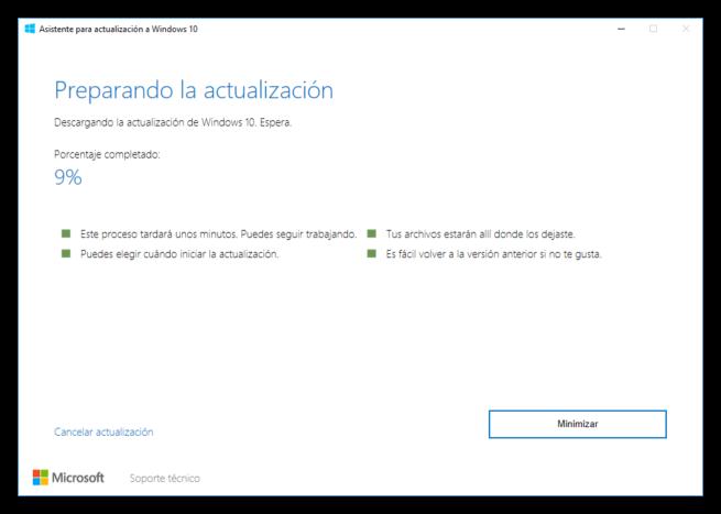 Asistente de actualización a Windows 10 Creators Update 3