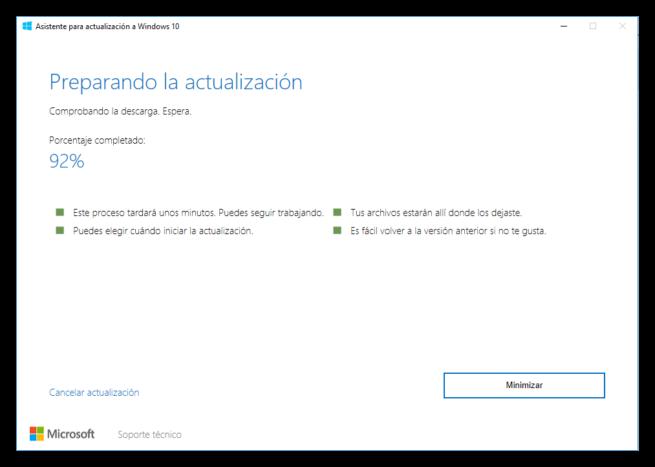 Asistente de actualización a Windows 10 Creators Update 4