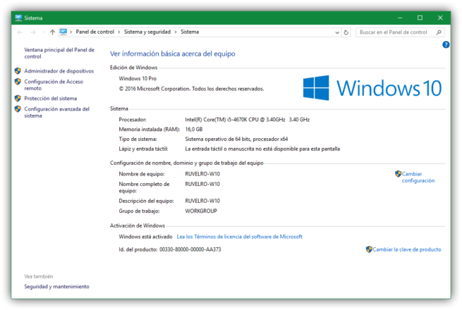 Comprobar estado licencia Windows