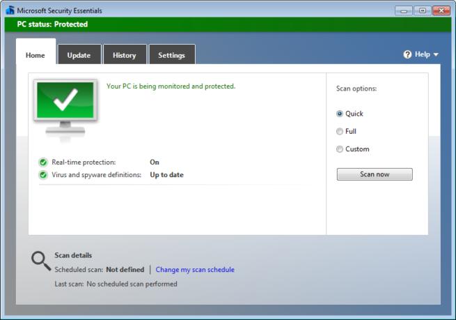 Microsoft Security Essentials 4.10