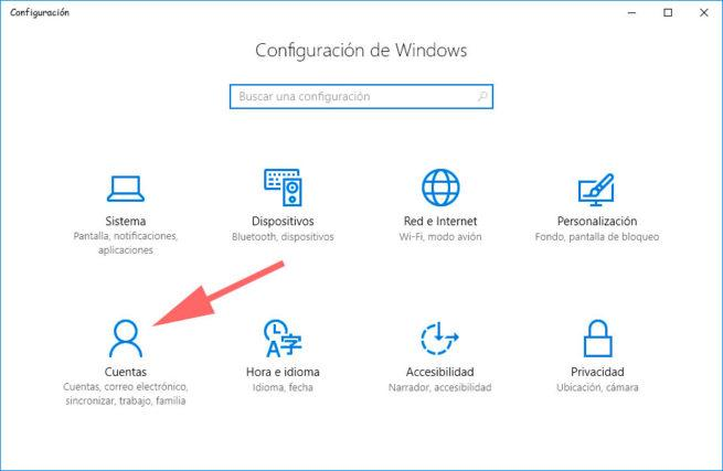 configuracion windows 10