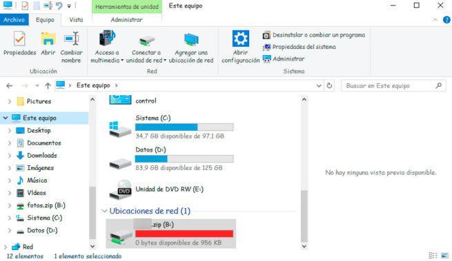 ZIP como unidad virtual
