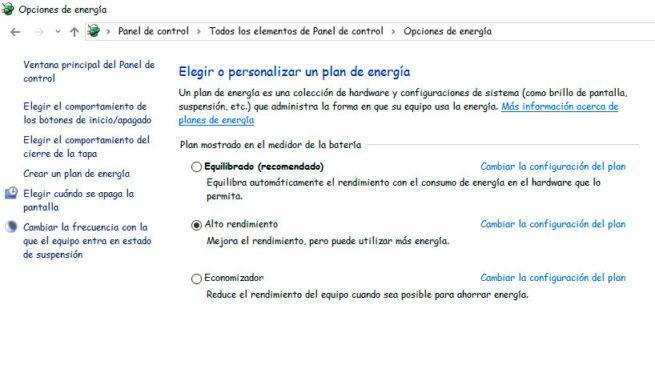 Planes de energía