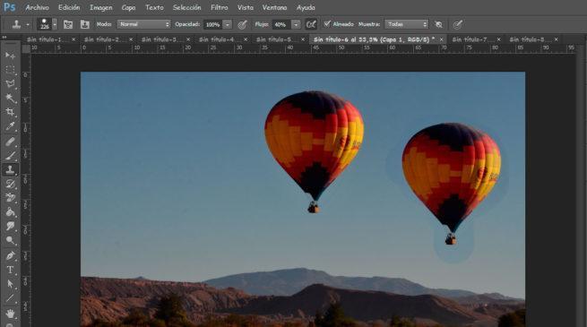 tampón de clonar de Photoshop