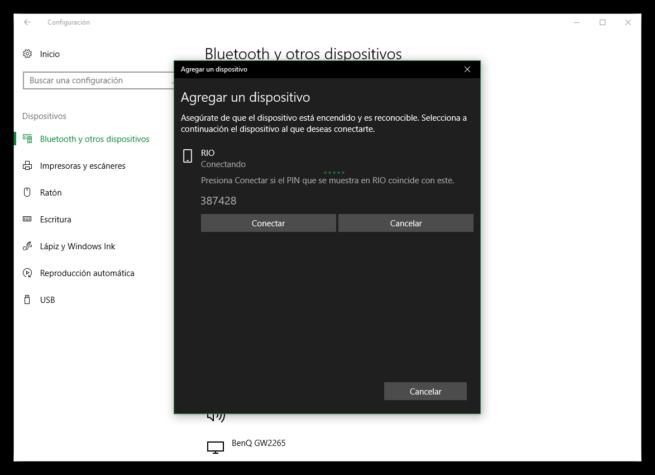 Comprobar PIn para conectar Android al PC
