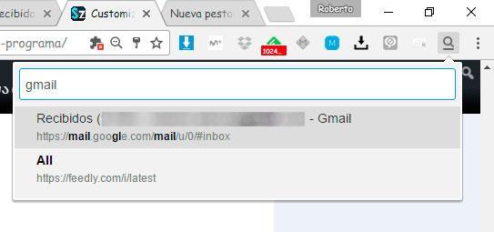 buscar pestaña Chrome