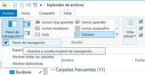 explorador de archivos de Windows