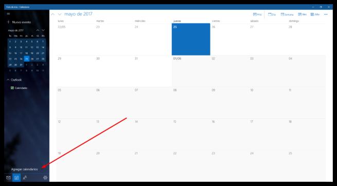 Agregar calendarios Bing a la app de Windows 10