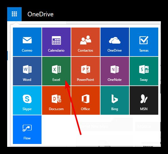 Aplicaciones OneDrive Microsoft Office Online