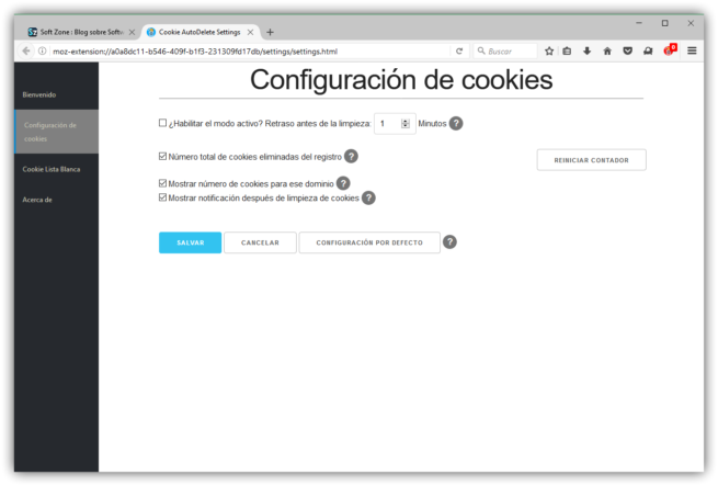Cookie AutoDelete Firefox