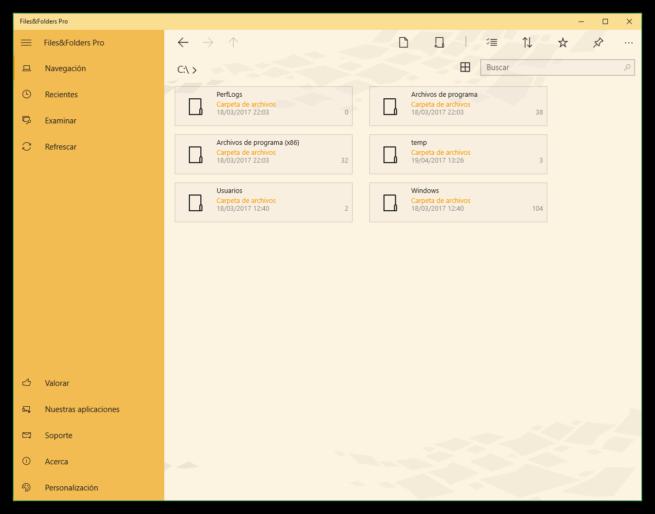 Files&Folders - Explorador de archivos UWP