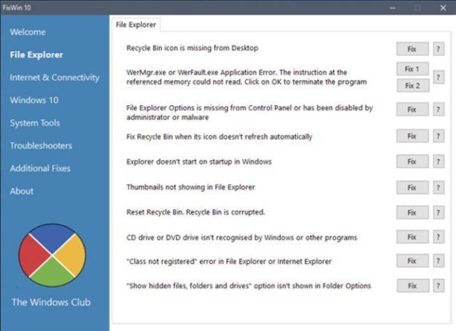 solucionar errores en Windows 10