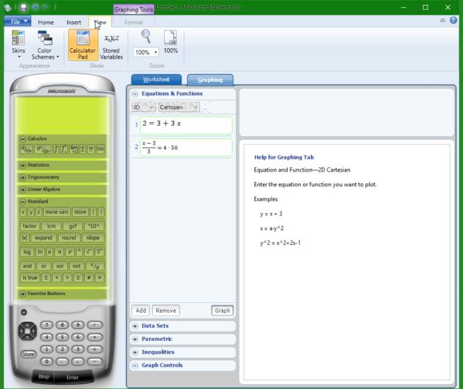aprender matemáticas Microsoft Mathematics
