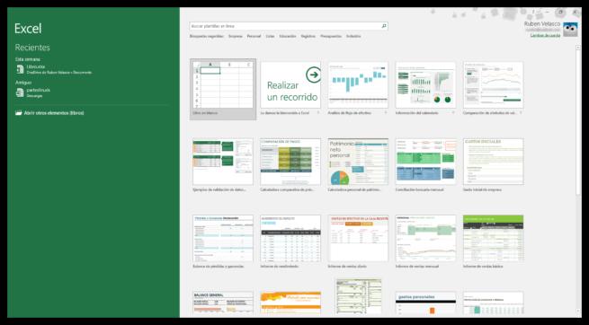 Nuevo documento de Excel