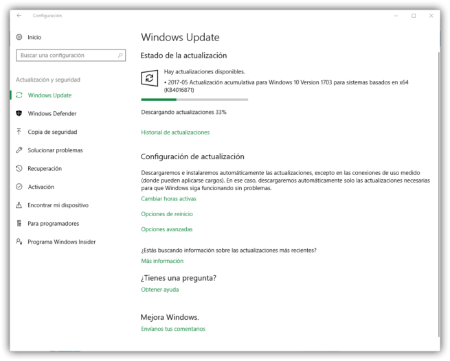 Parches seguridad mayo 2017 Windows 10