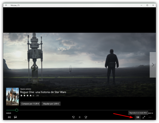Reproducir trailer Películas y TV Windows 10