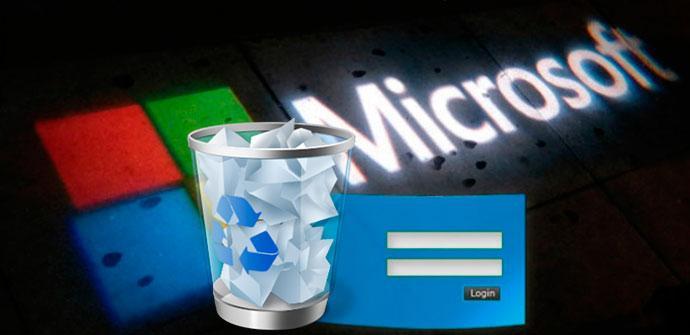 eliminar cuenta de Microsoft