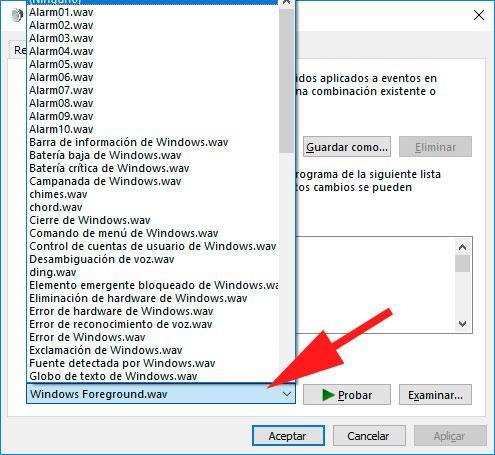sonidos de Windows
